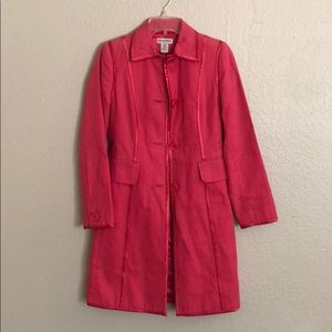 Pink banana republic trench coat